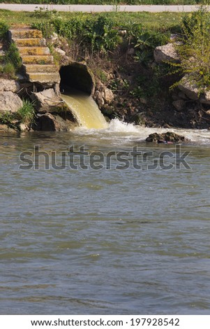 Pollution of Water. Chemical and Biological Contamination. Eco Disaster. - stock photo