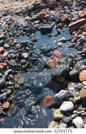 Pollution: sewage flow down directly in the sea
