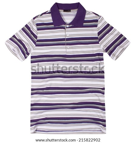 Polo shirt isolated on a white background.