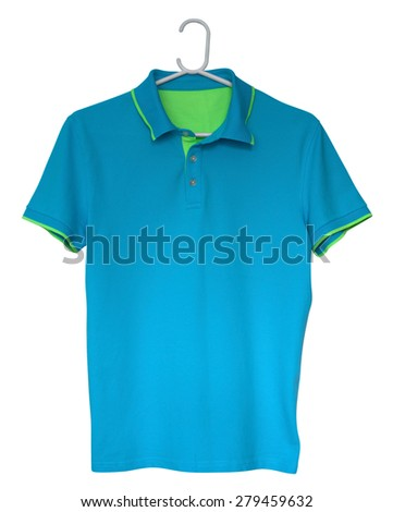 Polo shirt isolated on a white background. Clipping path included. - stock photo