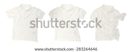 polo shirt isolated on white background - stock photo