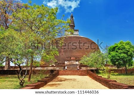 Polonnaruwa , ancient stupa. travel in Sri lanka series - stock photo