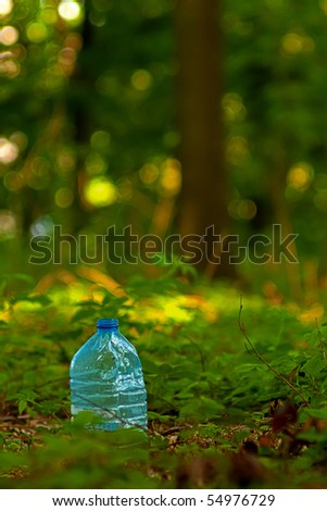 Poluted nature series. Wasted PET drum. - stock photo
