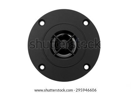 Polycarbonate highrange dome tweeter on white background