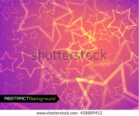 Polygonal abstract pink back for presentation. - stock photo