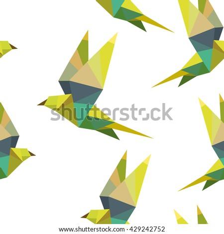 polygonal pattern bird - stock photo