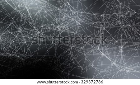 Polygons or geometric with a soft blurred background.