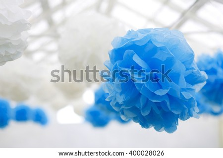 pom poms, decoration for party