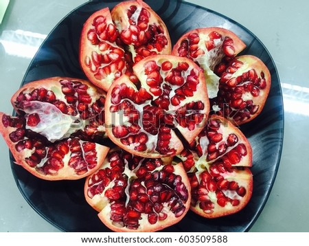 Pomegranate Fruit Stock Photo 603509588 - Shutterstock