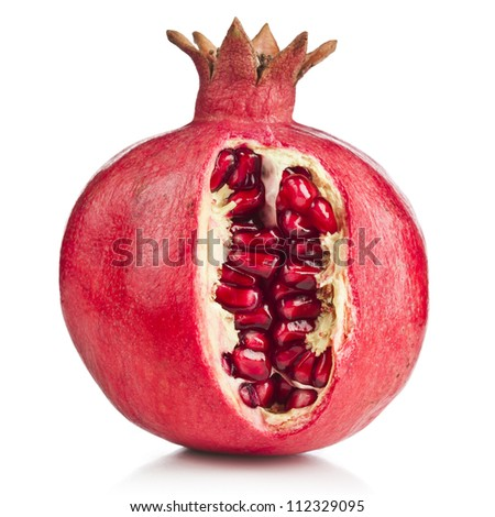 pomegranate fruit on a white background