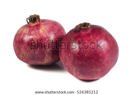 pomegranate isolate on white background
