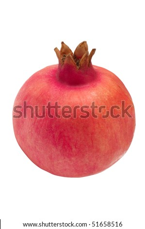 Pomegranate isolated on a white - stock photo