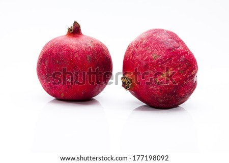 Pomegranates on Bright Background
