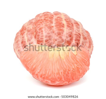 pomelo citrus fruit isolated on white background