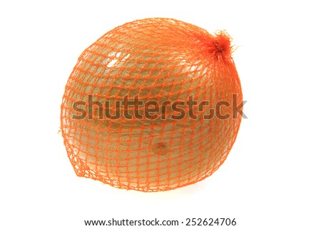 pomelo isolated on the white background