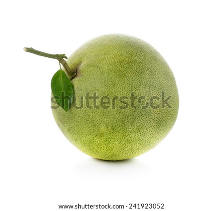 pomelo isolated on white - stock photo