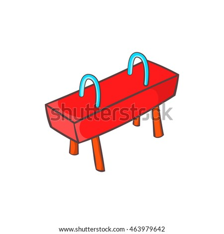 Pommel horse icon in cartoon style isolated on white background. Sport symbol