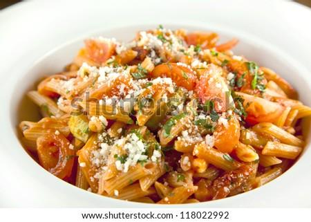 Pomodoro Pasta/Tomato Pasta - stock photo