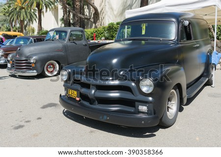 Pomona, USA - March 12, 2016: Chevrolet old truck during 3rd Annual Street Machine and Muscle Car Nationals