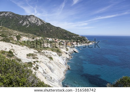 Pomonte, at the west coast of Elba, Tuscany, Italy, Europe