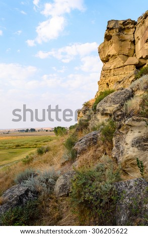 Pompeys Pillar National Monument - stock photo