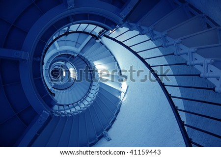 Ponce De Leon Lighthouse Spiral Staircase - stock photo