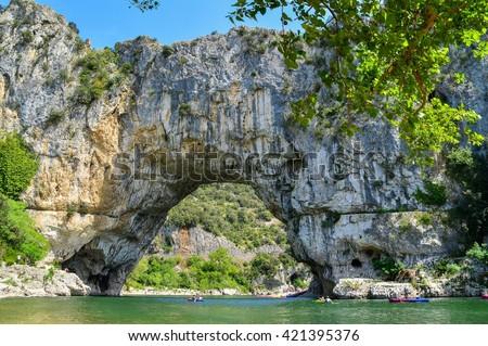 Pont d'Arc, Gorges de l'Ardèche, France - stock photo
