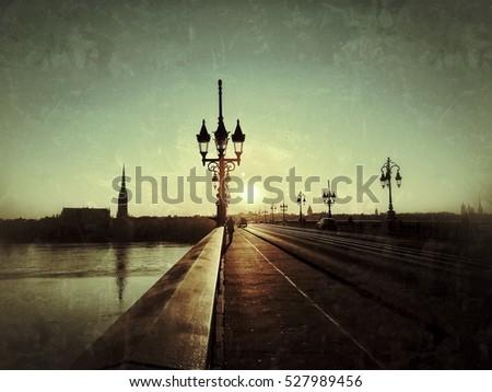 Pont de pierre bridge st michel stock photo 527989447 shutterstock - Pont de baignoire retro ...