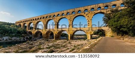 Pont du Gard, Provence, France - stock photo