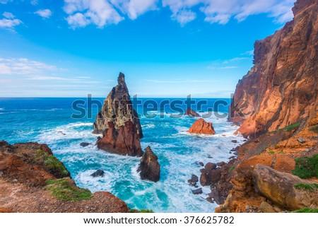 Ponta de Sao Lourenco, Madeira Island, Portugal  - stock photo