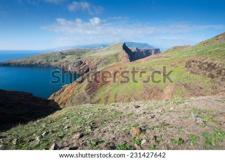 Ponta de Sao Lourenco, the easternmost part of Madeira Island - stock photo