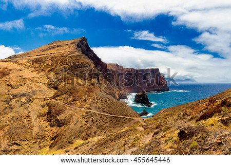 Ponta de Sao Lourenco, the easternmost part of Madeira Island, Portugal - stock photo