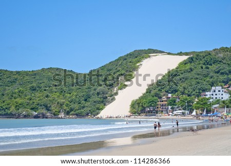 Ponta Negra beach in Natal city - Brazil - stock photo