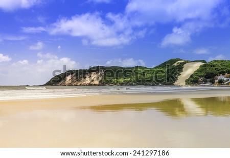 Ponta Negra dunes beach in Natal city,  Brazil - stock photo