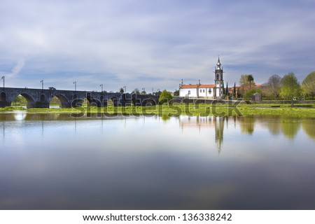 Ponte de Lima, Church, Portugal, fantasy - stock photo