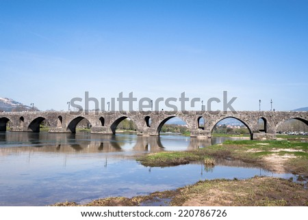 Ponte de Lima is known for the oldest village in Portugal, belongs to the district of Viana do Castelo in Portugal. - stock photo