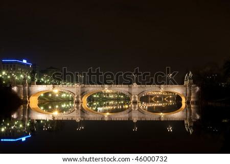 Ponte Isabella - Isabella bridge by night - stock photo