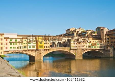 Ponte Vecchio bridge, Florence, Italy - stock photo
