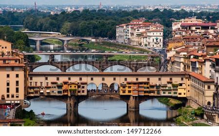 ponte vecchio in florence - stock photo