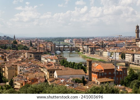 Ponte Vecchio in Florence, Italy - stock photo