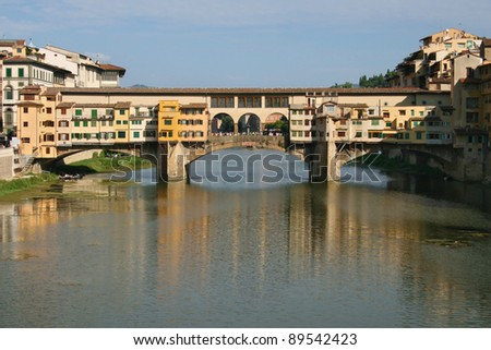 Ponte Vecchio over the Arno river, Florence, Italy.