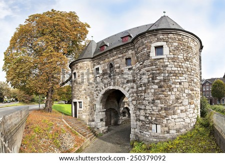 Ponttor - medieval city gate in Aachen, Germany