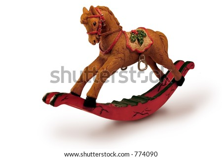 Pony for Christmas - stock photo