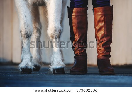 pony hooves and human Boots