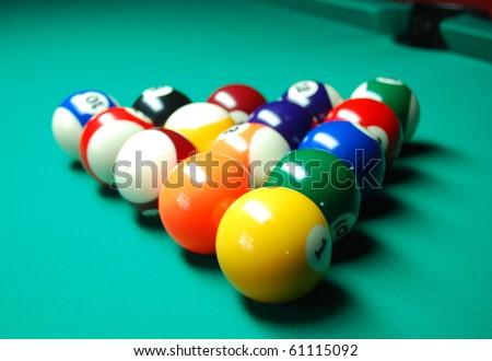 Pool balls - stock photo