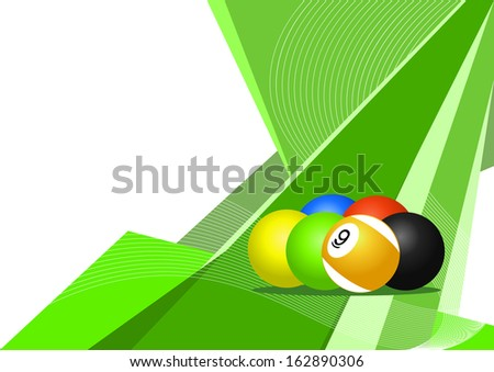 Pool balls, abstract design - stock photo
