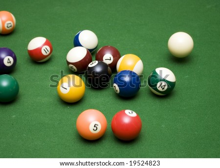 pool balls  breaking apart