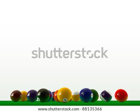 pool balls on green table