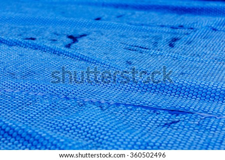 pool blue bubble protection  - stock photo