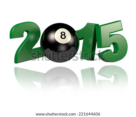 Pool 2015 design with a White Background - stock photo